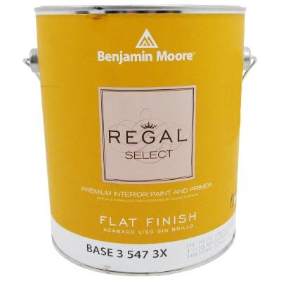 Mucho material pintura base 3 regal select vin int flat - Benjamin moore regal select exterior ...